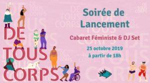 25/10/2019 dès 18h: ★ Soirée de lancement De Tous Corps ★