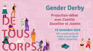 23/11/2019 - 19h: ★ De Tous Corps ★ Projection-débat Gender Derby