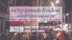 24/11/2019 - 13h30-16h30: Cortège Féministe et Radical